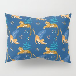 Tigers and Jaguars blue pattern Pillow Sham