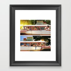 Two Dads. Framed Art Print