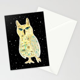 Intergalactic owl Stationery Cards