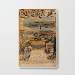 Oriental railways to Constantinople Metal Print