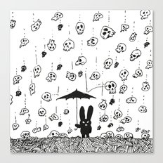 I'm only happy when it rains (skulls) Canvas Print