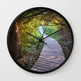 Path to the Mammoth lagoon. At sunset Wall Clock