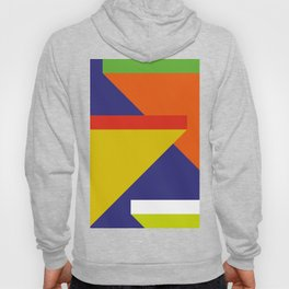 Random colored parallelepipeds flying in a cool blue space Hoody