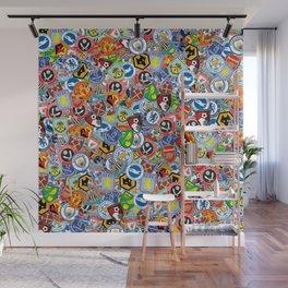 Premier League stickerbombing Wall Mural