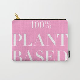 100% Plant Based Statement Tee Carry-All Pouch