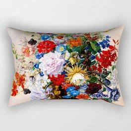 Floral Still Life by Sebastian Wegmayr - Vintage Painting Rectangular Pillow