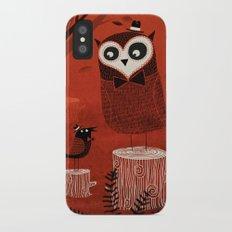 La Chouette et le Corbeau iPhone X Slim Case
