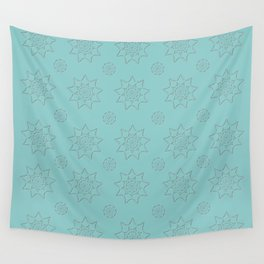 3D Texture Turquoise - Pointilism Pattern Wall Tapestry