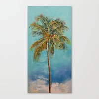 palm tree Canvas Prints featuring Palm Tree by Michael Creese