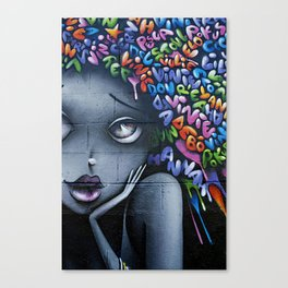 girl letters grafitti Canvas Print