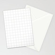 Grid (Platinum/White) Stationery Cards