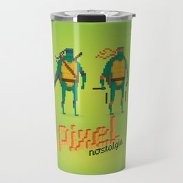 Ninja Turtles - Pixel Nostalgia Travel Mug