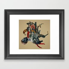 Self-digestion as a means of survival Framed Art Print