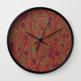 Lorne Splatter #7 Wall Clock