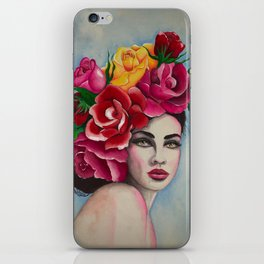 Flower Power Roses by Andrea iPhone Skin