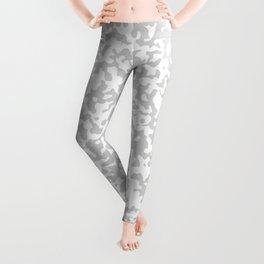 Small Spots - White and Light Gray Leggings
