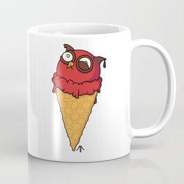 Owl cream cone with strawberry flavour Coffee Mug