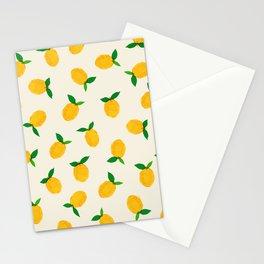 Lemon_Yellow_Pattern_01 Stationery Cards