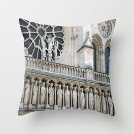 Notre Dame, Paris Throw Pillow
