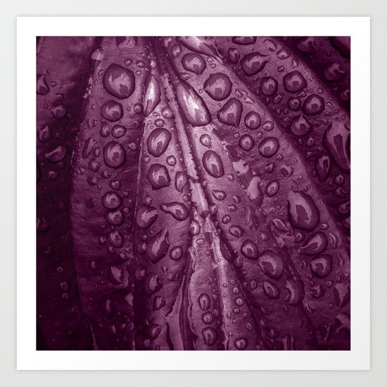 rainy drops II Art Print