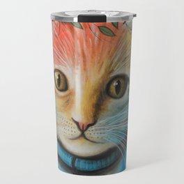 Milo ... Abstract Cat Kitten Art Travel Mug
