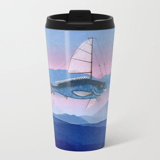 I want to fly Metal Travel Mug