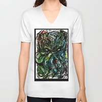 cthulu V-neck T-shirts featuring Johnny Cthulhu by J.M. Hunter