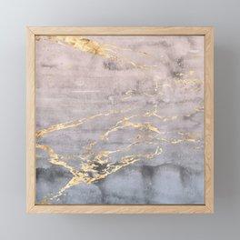 Watercolor Gradient Gold Foil IV Framed Mini Art Print