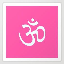 Om Pink & White Art Print