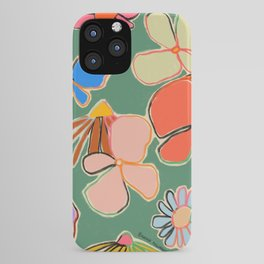 VINTAGE GARDEN GREEN iPhone Case