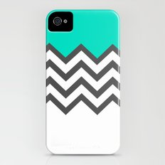 Color Blocked Chevron 9 Slim Case iPhone (4, 4s)