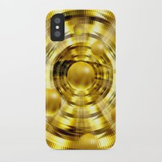 Abstract fantasy painting in gold. iPhone X Slim Case