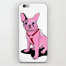 Frenchie_Pink iPhone & iPod Skin