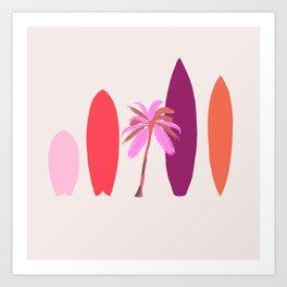tropical surf Art Print