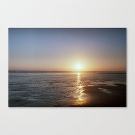 Sunset - La Palmyre, France Canvas Print