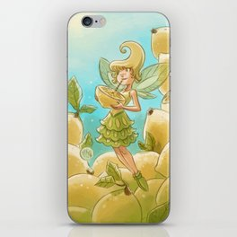Goblins Drool, Fairies Rule - Lemon Loop iPhone Skin