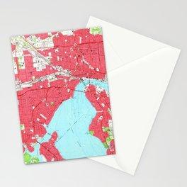 Vintage Map of Jacksonville Florida (1964) 2 Stationery Cards