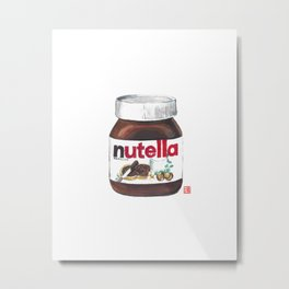 Nuts for Nutella Metal Print