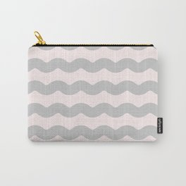 Winter 2018 Color: Gasp Gray on Millennial Pink Waves Carry-All Pouch