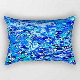 Blue Flames Background Rectangular Pillow