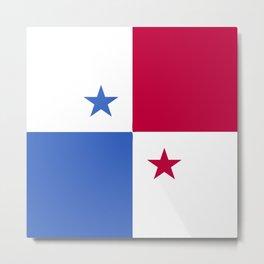 Panama flag emblem Metal Print
