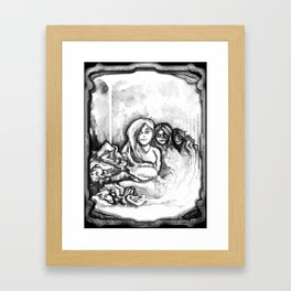 Nyx - Illustration Framed Art Print