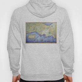 Vintage Map of Falmouth Neck Maine (1775) Hoody