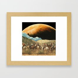 Riders on the slopes Framed Art Print