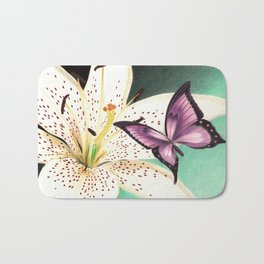 White Lily Bath Mat