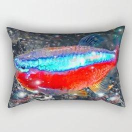 Neon Tetra Rectangular Pillow