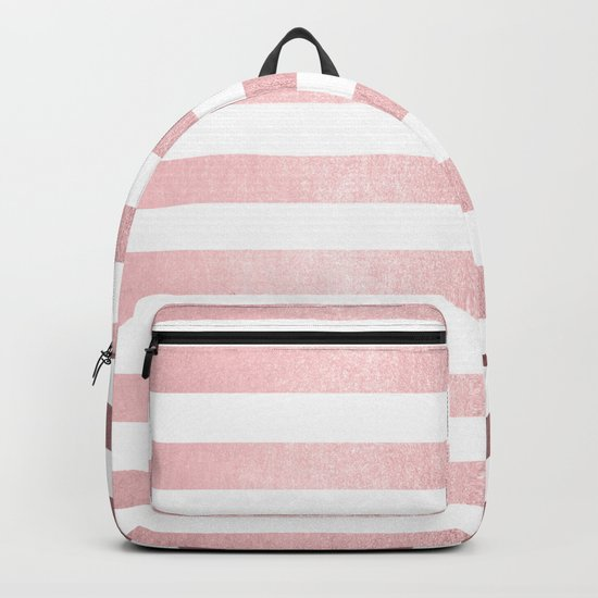 Simply Striped Rose Quartz Elegance Backpack