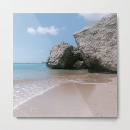 Natural beach I Caribbean I Curacao I playa forti I Blue ocean I Blue sky I Summer time Metal Print