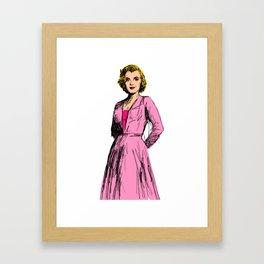 Marilyn In Pink Framed Art Print