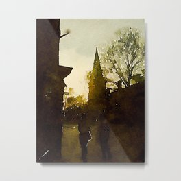 Cobblestone City Metal Print